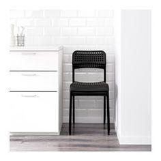 IKEA - ADDE, Krzesło, Krzesła możesz ustawić jedno na drugim, aby zajmowały…