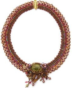 Ndebele collar with fire polish 4mm  |  cranberry meadows necklace | by Cielo Design