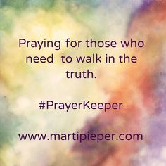 And away from anything less. #PrayerKeeper