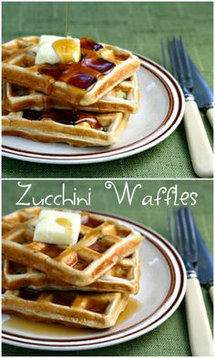 Zucchini waffles! Breakfast, supper, or snack.