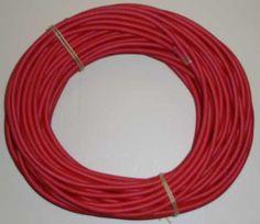 Seideumwickeltes Kabel rund 3 x 0.75 Farbe B325 rot.