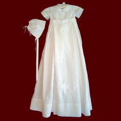Irish+Christening+Gowns+for+Boys | ... Picture - Boys Irish Linen Christening Romper with Detachable Gown