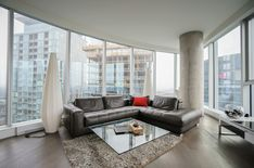 Bright and sunny 3 bedroom condo with superb views. Spacious open concept living with large balcony. Open Concept, Condominium, Montreal, Couch, Luxury, Bedroom, Building, Furniture, Beautiful