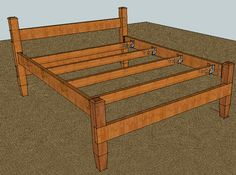 I'm in the planning stage of building a bed frame for my bride and I - constrained by budget, and design requirements. I'm looking to build a queen-size. Trundle Bed Frame, Bed Frame Plans, Diy Bed Frame, Bench Plans, Bed Frames, Diy Platform Bed Plans, Pallette, Bedding Inspiration, Mattress Sets