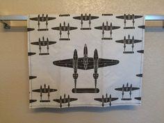 P-38 Lightning Bar Towel by JellicleStudio on Etsy