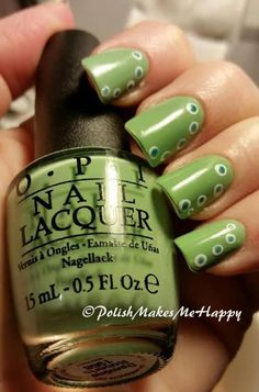 Added some dots to my OPI Damone Roberts 1968 manicure - This is what an Ottlite does to this polish!