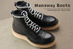 UNIQUE LEATHER LACE ON MANSWAY BOOTS  www.mansway.com
