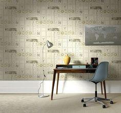 Ideas para decorar el estudio con papel tapiz