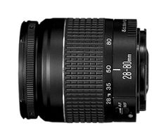 Canon EF 28-80mm f/3.5-5.6 II Standard Zoom Lens for Canon SLR Cameras by Canon. $66.49. From the Manufacturer                 For many EOS users, this is their first EF lens. Light, compact and affordable, it covers a practical range of focal lengths--ideal for almost everything from family snapshots and travel to event photography. A lightweight DC-focusing motor provides brisk autofocus, as close as 1.3 feet (0.38m), enough to fill the frame with a subject ab...