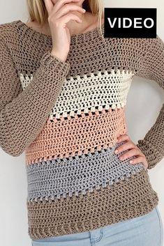 Pull Crochet, Crochet Coat, Crochet Clothes, Free Crochet, Crochet Sweaters, Crochet Cardigan Pattern, Crochet Blouse, Crochet Patterns Free Women, Couture