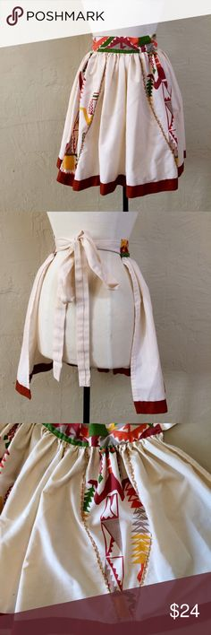 LAST CHANCE👣Vintage New Mexican apron Vintage New Mexican apron. Handmade. Great condition. Fits up to 2XL comfortably. Vintage Accessories