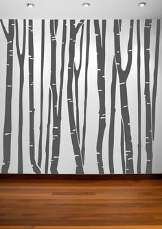 InnovativeStencils - Birch Tree Vinyl Decal Forest