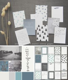 June moody blue project life cards @ dearest someday.