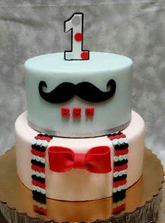 Mustache cake!!