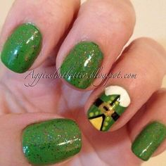 Buddy the elf nails, from 2012. Christmas nails!