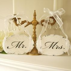 shabby chic weddings   found by signsofvintage more from etsy com these sweet oval cut mr and ...