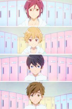 Rin, Nagisa, Haru, Makoto