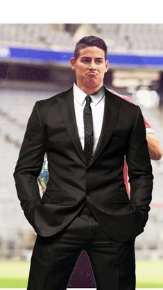 shared a photo from Flipboard James Rodriguez Colombia, Soccer Players, Suit Jacket, Football, Suits, Boys, Sport, Style, Fashion