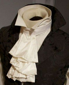 BLACK LACE CRAVAT Cuffs option Vampire Pirate Victorian Costume Jabot Unisex
