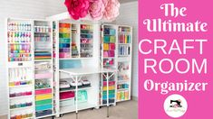As an avid crafter I m always in search of ways to keep my craft room clean and organized I m the first to admit I m not a clean crafter but having an organized space makes it SO much easier to put everything back where it belongs craft sew cricut Office Organization At Work, Craft Organization, Girls Bedroom Organization, Organizing Crafts, Stationary Organization, Ribbon Organization, Diy Crafts, Craft Room Storage, Storage For Books