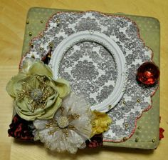 Chipboard Album Ideas | Christmas 6x6 mini chipboard album by SoScrappyHappy on Etsy, $22.00