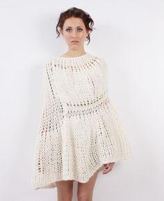 Not your average poncho. #unique #knit #sweaterlove