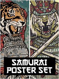 Tiger-Samurai print