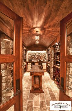 Traditional Wine Cellar Photos Design, Pictures, Remodel, Decor and Ideas - page 6 Tasting Table, Tasting Room, Caves, Bodega Bar, Future House, My House, Wine Cellar Basement, Beer Cellar, Home Wine Cellars