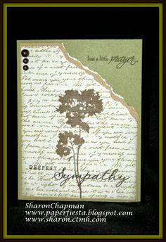 Sharon's Paper Fiesta: Celebrating paper crafts & stamping: Sympathy Card