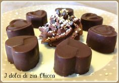 Cioccolatini ripieni con crema Lindor Biscotti Cookies, Cake & Co, Cookie Desserts, Toffee, Chocolate Recipes, Baking Recipes, Zia, Food And Drink, Tasty