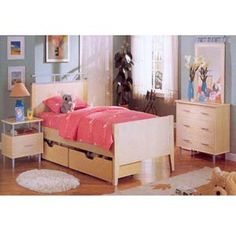 Twin Bed With Drawers F9033