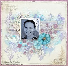 Hi there! I hope you are have a great weekend! I had some me time so I created a mixed media layout featuring pretty papers from the Pion...