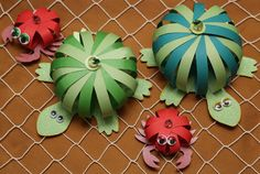 Sea creatures paper crafts