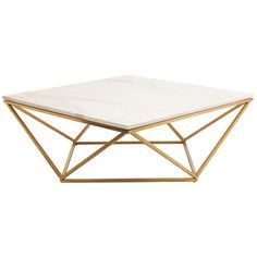 Galaxy Coffee Table With Gold Brushed Legs & Marble top - Black Rooster Decor in Toronto, $1700