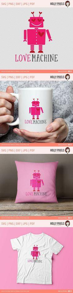 Love Machine Robot SVG. Photoshop Shapes. $4.00