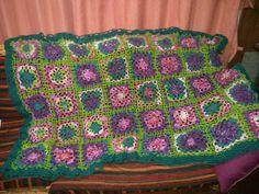 Manta crochet carolana
