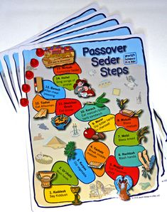 #Passover #Seder Passover Seder Steps Follow-Along Help engage your kids at the Seder this year! http://jewishholidaysinabox.com/blog/passover-steps-walking-through-the-haggadah/