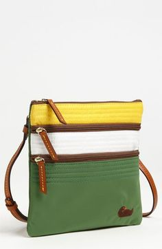Perfect Baylor bag: green and gold Dooney & Bourke crossbody purse