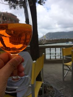 A spritz in Vernazza, Cinque Terre. Even though it was so cloudy, it was still very relaxing and sweet.