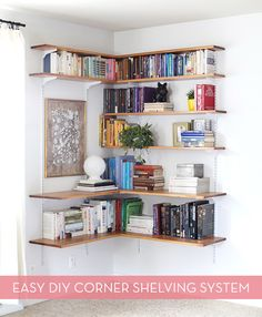 How To: Make A Modern Diy Corner Shelving System