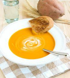 Butternut Squash and Sweet Potato Soup {vegan}