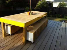 My outdoor tabke and chairs. Made by me