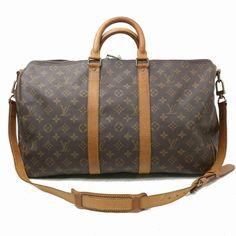 d7de6fd5ff0f Authentic Louis Vuitton Boston Bag Keepall Bandouliere 45 M41418 353442   fashion  clothing  shoes