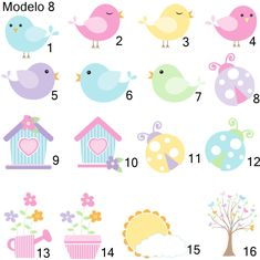 Doodle Characters, Bird Clipart, Bird Houses Painted, Butterfly Party, Bird Theme, Craft Box, Coloring Pages, Doodles, Clip Art