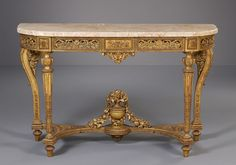 French Louis XVI Console Table, ca. 1775 - Antiques   ArtListings