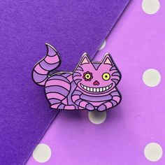 Cheshire Cat Enamel Pin – Box Monster London