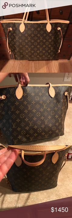 Louis Vuitton Neverfull MM Monogram Authentic Louis Vuitton  Monogram Neverfull MM with brown Lining- this is the newest lining and the most perfect patina! Bag is gorgeous and perfect! 🅿️🅿️ welcomed- if on posh than the 20% concierges fee for your peace if mind is added- 🦋🐧 Select trades will be considered 🦋🐧 Louis Vuitton Bags Totes