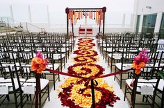 GORGEOUS aisle - COLOR! By Pryor Events