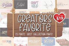 The Creators Favorite Font Bundle #crafter #bundle #bestbundle #fontbundle #creator #branding #design #graphicdesign #80sfont #font70s