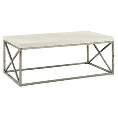 Monarch Metal Coffee Table - White $135.99 For sitting Room in the front??